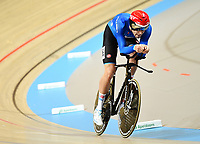 Picture by Alex Broadway/SWpix.com - 02/03/2018 - Cycling - 2018 UCI Track Cycling World Championships, Day 3 - Omnisport, Apeldoorn, Netherlands - Filippo Ganna of Italy competes in the Men's Individual Pursuit Qualifying.