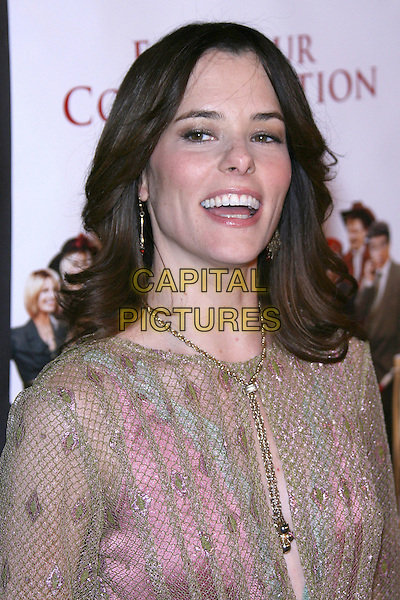 "PARKER POSEY.""For Your Consideration"" Los Angeles Premiere - Arrivals held at the Director's Guild, Hollywood, California , USA,13 November 2006..portrait headshot pink gold dress mouth open.Ref: ADM/ZL.www.capitalpictures.com.sales@capitalpictures.com.©Zach Lipp/AdMedia/Capital Pictures."