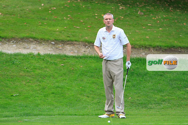 Alan Thomas (Tramore) on the 16th drop zone during the AIG Senior Cup Final between Tramore &amp; Co. Sligo in the AIG Cups &amp; Shields at Carton House on Saturday 20th September 2014.<br /> Picture:  Thos Caffrey / www.golffile.ie