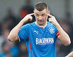 Lee McCulloch telling the linesman to keep his eyes peeled