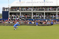 Bernd Wiesberger (AUT) on the 18th green during Sunday's Final Round of the Dubai Duty Free Irish Open 2019, held at Lahinch Golf Club, Lahinch, Ireland. 7th July 2019.<br /> Picture: Eoin Clarke | Golffile<br /> <br /> <br /> All photos usage must carry mandatory copyright credit (© Golffile | Eoin Clarke)