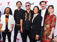 PASADENA, CA, USA - OCTOBER 10: Enrique Rangel, Joselo Rangel, Emmanuel del Real, Ruben Isaac arrive at the 2014 NCLR ALMA Awards held at the Pasadena Civic Auditorium on October 10, 2014 in Pasadena, California, United States. (Photo by Celebrity Monitor)