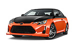 Stock pictures of low aggressive front three quarter view of a 2015 Scion tC Release Series 9.0 2 Door Coupe Low Aggressive