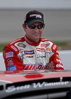 May 4, 2007; Richmond, VA, USA; Nascar Busch Series driver Scott Wimmer (21) during qualifying for the Circuit City 250 at Richmond International Raceway. Mandatory Credit: Mark J. Rebilas..