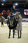 Jane Richard Philips on Dieudonne de Guidenboom is the winner Prize Giving Ceremony at the end of Table A Against the Clock during the Longines Masters of Hong Kong on 19 February 2016 at the Asia World Expo in Hong Kong, China. Photo by Juan Manuel Serrano / Power Sport Images