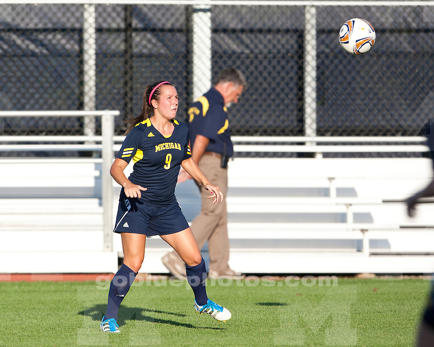 University of Michigan women's soccer 1-0 loss to Akron in exhibition play at the U-M Soccer Stadium in Ann Arbor, MI, on August 19, 2011.