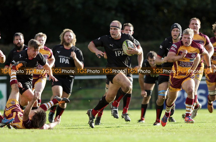 Blackheath's Richard Pike on the attack - Sedgley Park Tigers vs Blackheath RFC - SSE National League One Rugby at Park Lane, Whitefield, Manchester - 06/10/12 - MANDATORY CREDIT: Helen Watson/TGSPHOTO - Self billing applies where appropriate - 0845 094 6026 - contact@tgsphoto.co.uk - NO UNPAID USE.