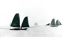 Boote in der Halong-Bucht, Vietnam 1991, Unesco-Weltkuturerbe