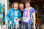 Aileen Moriarty, Trisha Flahive and Ann O'Sullivan (all from Dingle) at the Dingle Women's Marathon on Saturday morning.