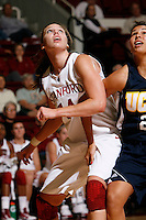 STANFORD, CA - NOVEMBER 8:  Kayla Pedersen of the Stanford Cardinal during Stanford's 107-55 win over the UCSD Toreros on November 8, 2009 at Maples Pavilion in Stanford, California.