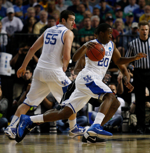 Doron Lamb drives the ball in the first game of the 2011 NCAA Basketball Tournament, at the St. Petersburg Times Forum, in Tampa, Fl.  Photo by Latara Appleby | Staff