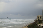 Israel, a stormy day at the beach of Herzliya