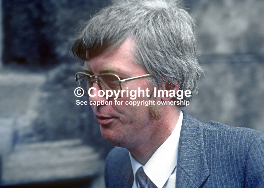 Pat Gallagher, aka Patrick Gallagher, TD, Sinn Fein The Workers' Party, Rep of Ireland, 19820300042PG..Copyright Image from Victor Patterson, 54 Dorchester Park, Belfast, UK, BT9 6RJ.  Tel: +44 28 90661296  Mobile: +44 7802 353836.Email: victorpatterson@me.com Email: victorpatterson@gmail.com..For my Terms and Conditions of Use go to http://www.victorpatterson.com/ and click on Terms & Conditions