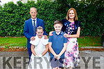 Shauna Donovan with her family at her first holy communion in the Church of the Immaculate Conception, Rathass on Saturday. L to r: Anthony, Shauna, Jack and Ann Donovan.