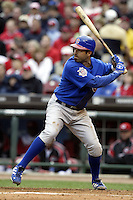 03 April 2006: Chicago Cubs' Todd Walker bats against the Cincinnati Red's during the Reds' home opener at Great American Ballpark in Cincinnati, Ohio.<br />