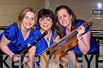 MUSIC: Rosie Healy, Mary O'Callaghan and Martina O'Neill, from Glenflesk Musician group rehearsing before heading into the Semi Finals of Scor in Tintea?n Theatre, Ballybunion, on Sunday night. .