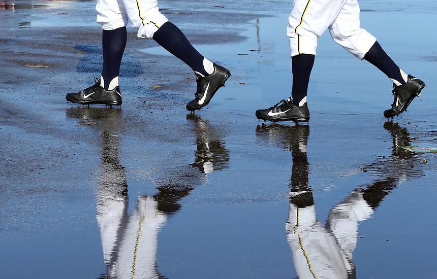 melt, weather, reflection, baseball, parking lot, feature, water, puddle, 021714