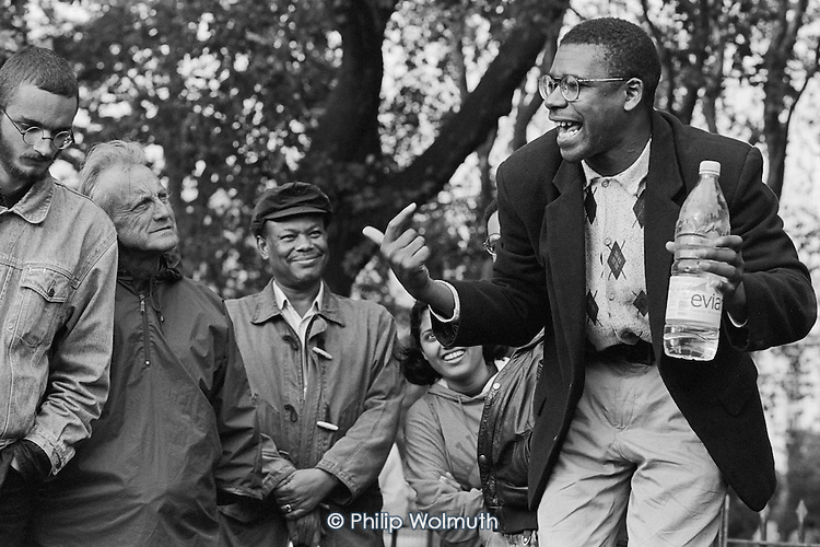 Bobby Beckford, Speakers' Corner, Hyde Park, London.