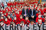 Junior Minister for Education, Damien English, and TD Brendan Griffin visited Mercy National School in Killarney last week to discuss issues affecting the urban school.