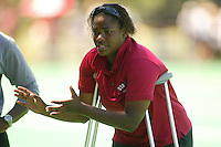 27 August 2005: Saleema Rogers during Stanford's 2-1 overtime loss to Miami (Ohio) at the Varsity Turf Field in Stanford, CA.