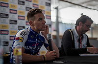 post-race press conference for runner-up Zdenek Stybar (CZE/Etixx-Quick Floors)<br /> <br /> 115th Paris-Roubaix 2017 (1.UWT)<br /> One Day Race: Compi&egrave;gne &rsaquo; Roubaix (257km)