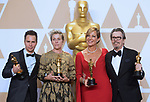 04.03.2018; Hollywood, USA: SAM ROCKWELL, FRANCES MCDORMAND, ALLISON JANNEY AND GARY OLDMAN<br /> at the 90th Annual Academy Awards held at the Dolby&reg; Theatre in Hollywood.<br /> Mandatory Photo Credit: &copy;A.M.P.A.S./NEWSPIX INTERNATIONAL<br /> <br /> IMMEDIATE CONFIRMATION OF USAGE REQUIRED:<br /> Newspix International, 31 Chinnery Hill, Bishop's Stortford, ENGLAND CM23 3PS<br /> Tel:+441279 324672  ; Fax: +441279656877<br /> Mobile:  07775681153<br /> e-mail: info@newspixinternational.co.uk<br /> Usage Implies Acceptance of Our Terms &amp; Conditions<br /> Please refer to usage terms. All Fees Payable To Newspix International