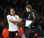 Manchester United's Radamel Falcao shakes hands with Louis Van Gaal<br /> <br /> Barclays Premier League- West Ham United vs Manchester United  - Upton Park - England - 8th February 2015 - Picture David Klein/Sportimage