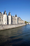 La Conciergerie, a former prison, along the Seine river, Paris, France