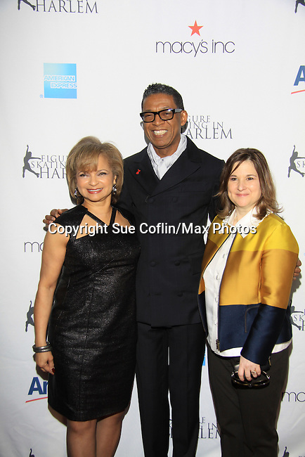 Kathryn & B Michael & Sharon Cohen - The 2013 Skating with the Stars- a benefit gala for Figure Skating in Harlem on April 8, 2013 at Trump Wollman Rink, New York City, New York. (Photo by Sue Coflin/Max Photos)