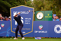 Rory McIlroy (NIR) on the 16th tee during the 1st round of the DP World Tour Championship, Jumeirah Golf Estates, Dubai, United Arab Emirates. 21/11/2019<br /> Picture: Golffile | Fran Caffrey<br /> <br /> <br /> All photo usage must carry mandatory copyright credit (© Golffile | Fran Caffrey)