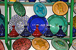 North Africa, Africa, Morocco, Marrakesh. A selection of Morrocan pottery and ceramics.