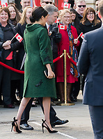 Prince Harry and Meghan Duchess of Sussex co-host event as part of Commonwealth day, celebrating the diverse community of young Canadians living in London and around the UK, at Canada House.<br /> London, England on March 11, 2019.<br /> CAP/JOR<br /> &copy;JOR/Capital Pictures
