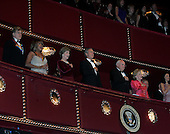 Robert Redford, singer Tina Turner, First lady Laura Bush, U.S. President George W. Bush, Vice President Dick Cheney, and Lynne Cheney attend the Kennedy Center Honors at the John F. Kennedy Center for the Performing Arts in Washington, on December 4, 2005..Credit: Katie Falkenberg - Pool via CNP