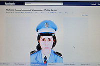 Fadia Hamdi the municipal police women are on facebook..At the moment, she is arrested and leave in Gafsa Prison. ©Benoit Schaeffer