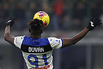 Duvan Zapata of Atalanta controls the ball in mid air during the Serie A match at Giuseppe Meazza, Milan. Picture date: 11th January 2020. Picture credit should read: Jonathan Moscrop/Sportimage