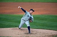 West Michigan Whitecaps starting pitcher Kyle Funkhouser (22) delivers a pitch during a game against the Peoria Chiefs on May 8, 2017 at Dozer Park in Peoria, Illinois.  West Michigan defeated Peoria 7-2.  (Mike Janes/Four Seam Images)