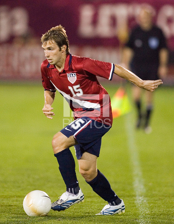 USA's (15) Bobby Convey. USA defeated Latvia 1-0 in an international friendly at Rentschler Field, East Hartford, CT, on May 28, 2006.