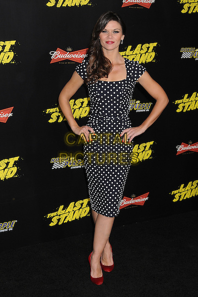 "Danielle Vasinova.""The Last Stand"" World Premiere held at Grauman's Chinese Theatre, Hollywood, California, USA..January 14th, 2013.full length black white red shoes polka dot dress hands on hips.CAP/ADM/BP.©Byron Purvis/AdMedia/Capital Pictures."