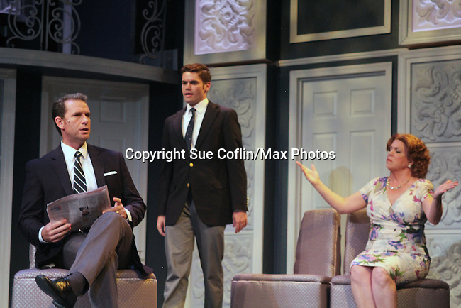 """All My Children's Jane Brockman stars with Mark Epperson and Ryan Bloomquist in """"It Shoulda Been You"""" - a new musical comedy - at the Gretna Theatre, Mt. Gretna, PA on July 30, 2016. (Photo by Sue Coflin/Max Photos)"""
