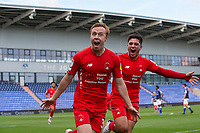 O's Danny Johnson scores and celebrates during Oldham Athletic vs Leyton Orient, Sky Bet EFL League 2 Football at Boundary Park on 12th September 2020