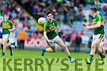 Michael Slattery Kerry in action against  Louth in the All Ireland Minor Football Quarter Finals at O'Moore Park, Portlaoise on Saturday.