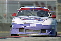 The #23 Porsche 996 GT3R of Randy Pobst, Bruno Lambert, and Michael Conti races to a 16th place finish in the Rolex 24 at Daytona, Daytona International Speedway, Daytona Beach, FL, February 2000.  (Photo by Brian Cleary/www.bcpix.com)