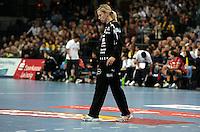 EHF Champions League Handball Damen / Frauen / Women - HC Leipzig HCL : SD Itxako Estella (spain) - Arena Leipzig - Gruppenphase Champions League - im Bild: Torfrau Katja Schuelke. Foto: Norman Rembarz .