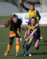 Action from the National Women's Association Under-18 Hockey Tournament 11th place playoff match between Thames Valley and Bay of Plenty at Twin Turfs in Clareville, New Zealand on Saturday, 15 July 2017. Photo: Dave Lintott / lintottphoto.co.nz