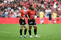 Chris Ashton and Ma'A Nonu of Toulon during the French Top 14 match between Toulon and Montpellier at Stade Velodrome on April 14, 2018 in Marseille, France. (Photo by Alexandre Dimou/Icon Sport)
