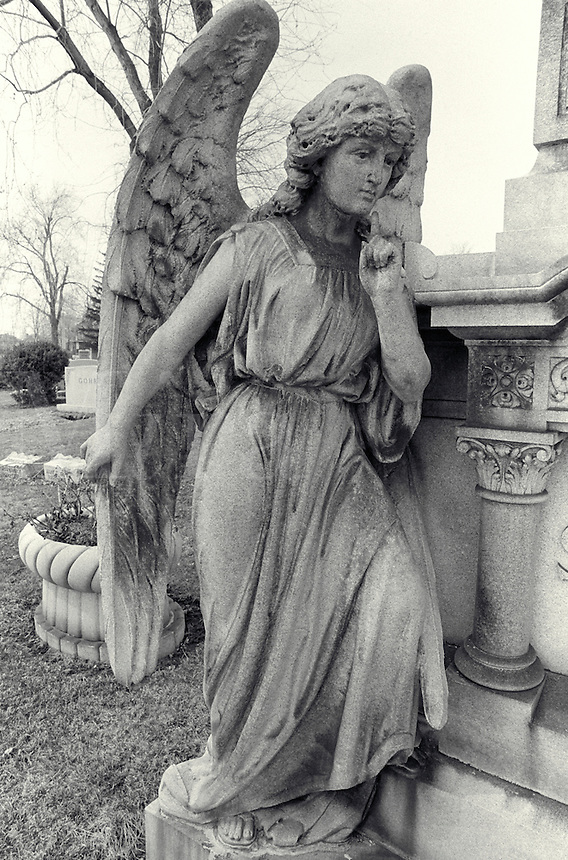 Angel in Cemetery. Buffalo New York, Mount Forest Cemetery.