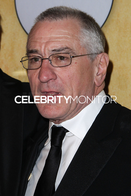 LOS ANGELES, CA - JANUARY 18: Robert De Niro in the press room at the 20th Annual Screen Actors Guild Awards held at The Shrine Auditorium on January 18, 2014 in Los Angeles, California. (Photo by Xavier Collin/Celebrity Monitor)