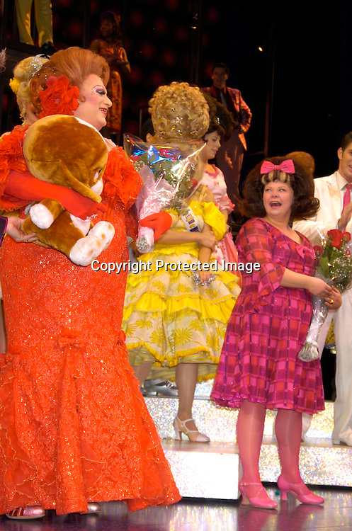 Harvey Fierstein and Kathy Brier ..at the Last Performance of Harvey Fierstein and Kathy Brier ..in Hairspray on May 2, 2004 at the Neil Simon Theatre...Photo by Robin Platzer, Twin Images