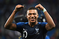 Kylian Mbappe of France celebrate his victory during the Semi Final FIFA World Cup match between France and Belgium at Krestovsky Stadium on July 10, 2018 in Saint Petersburg, Russia. (Photo by Anthony Dibon/Icon Sport)