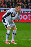 10.03.2018, BayArena, Leverkusen , GER, 1.FBL., Bayer 04 Leverkusen vs. Borussia Moenchengladbach<br /> im Bild / picture shows: <br /> Josip Drmic (Gladbach #18),  verschiesst und aergert sich <br /> <br /> <br /> Foto © nordphoto / Meuter